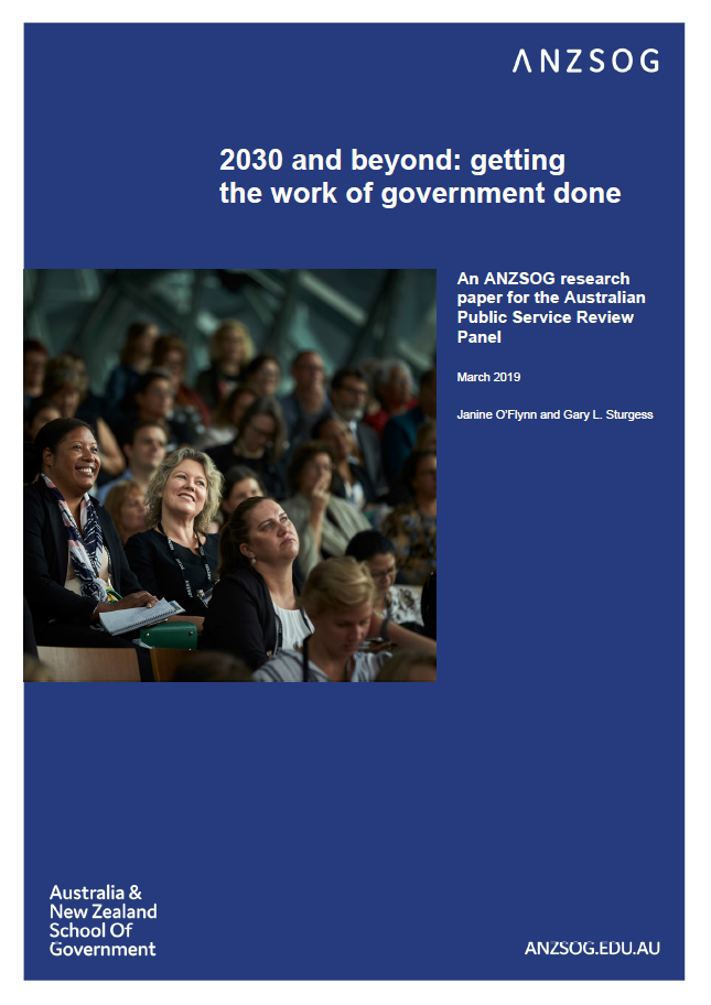 2030 and beyond: getting the work of government done (cover)