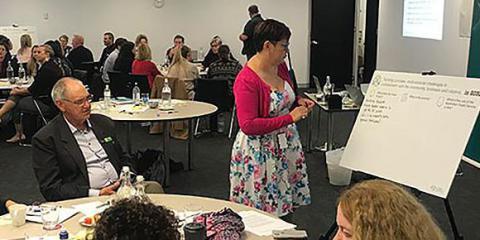 APS staff discussing ideas around APS Reform at a Brisbane workshop